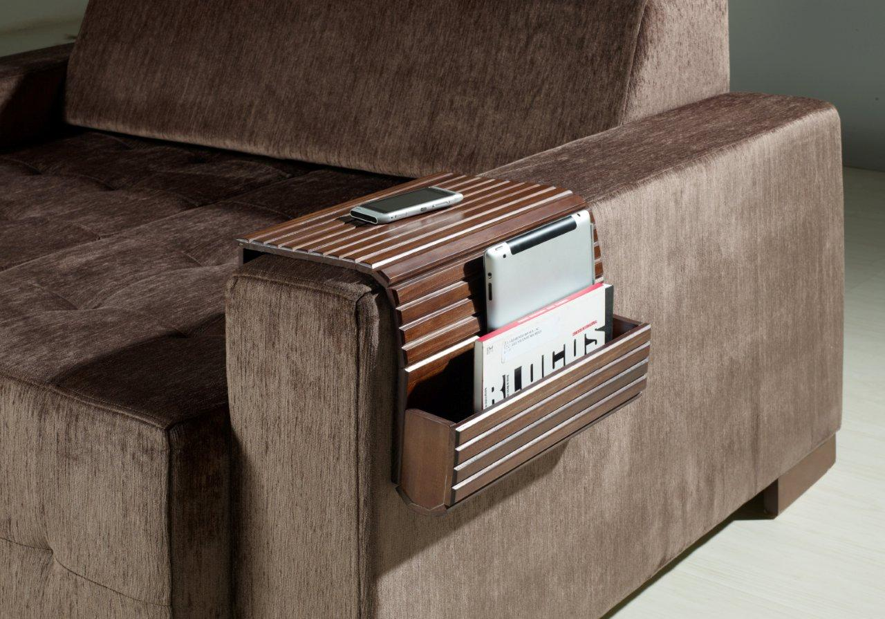 Soffitta USA Couchmaid Organizer Solid Wood Sofa/Laptop Tray Walnut Hand Crafted at Sears.com