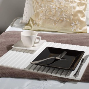 Couchmaid Classic Sofa Tray/ Lap Desk in White.