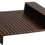 Couchmaid Organizer Sofa Tray in Walnut.