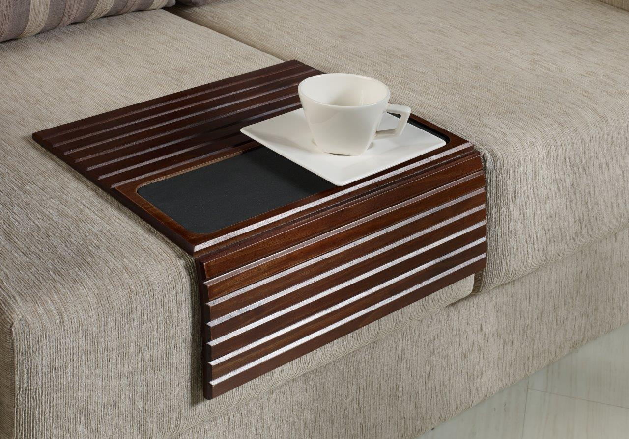 Couchmaid Table Top Sofa Tray Lap Desk In Walnut